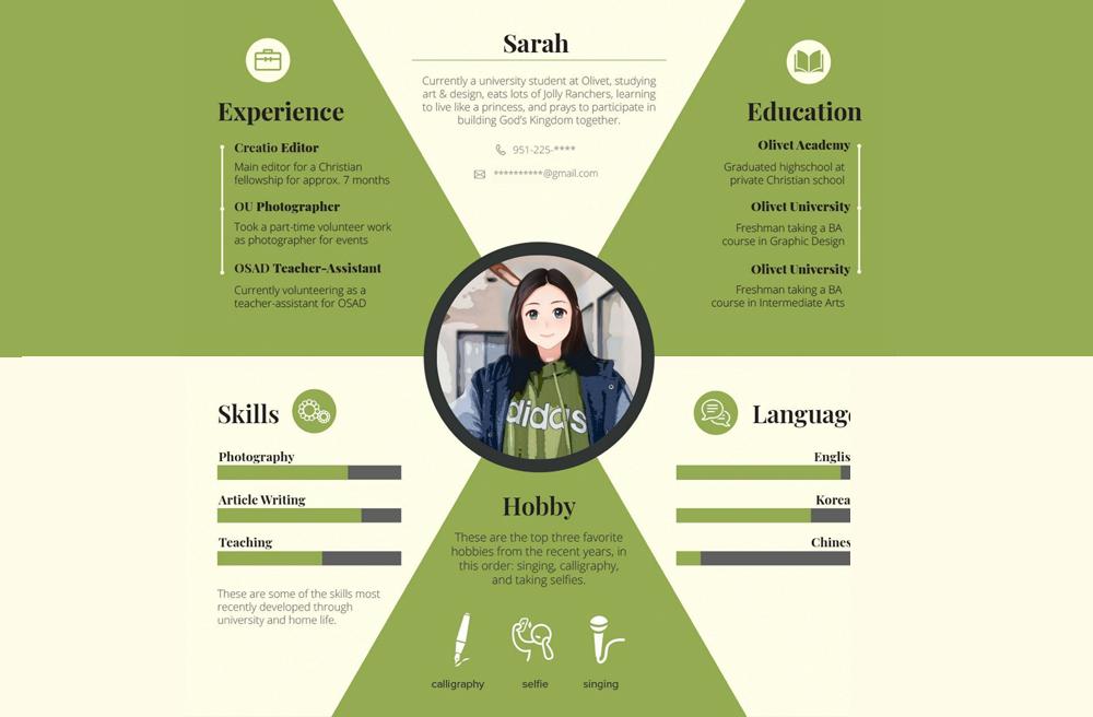 olivet-university-olivet-design-school-freshmen-create-personal-profile-infographics