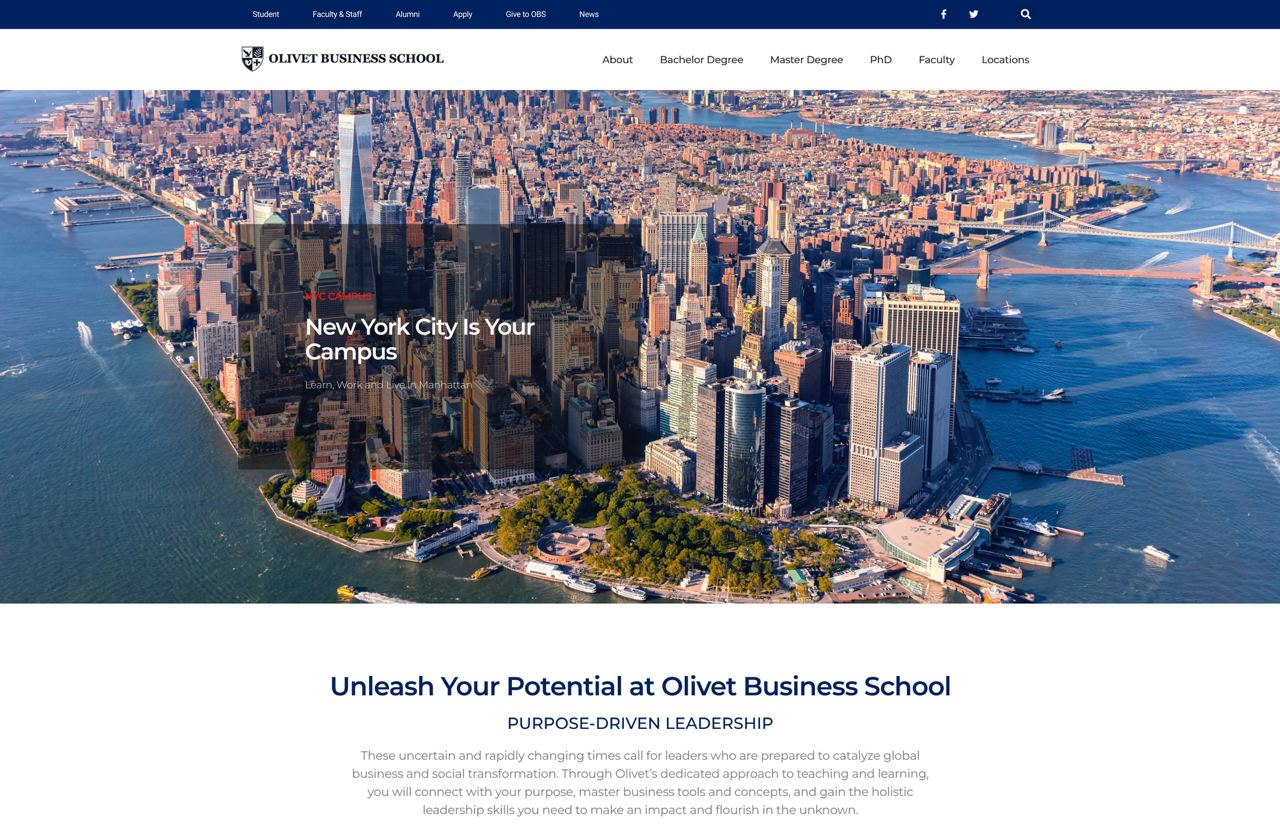 Olivet Business School Launches New Website