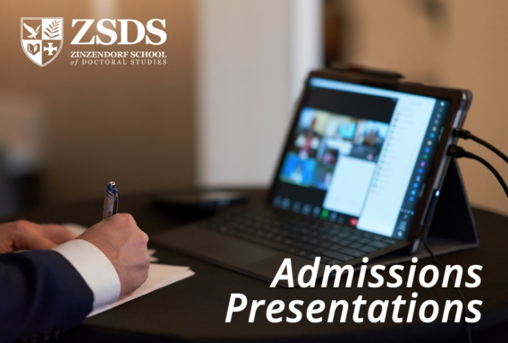 Zinzendorf School of Doctoral Studies Holds Admissions Presentation Online